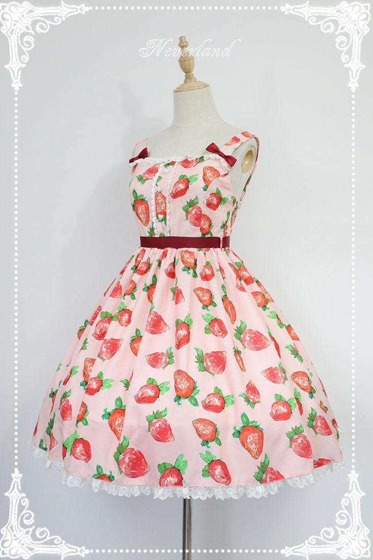 Neverland Lolita -Sweet Strawberries- Sweet Lolita Jumper Dress