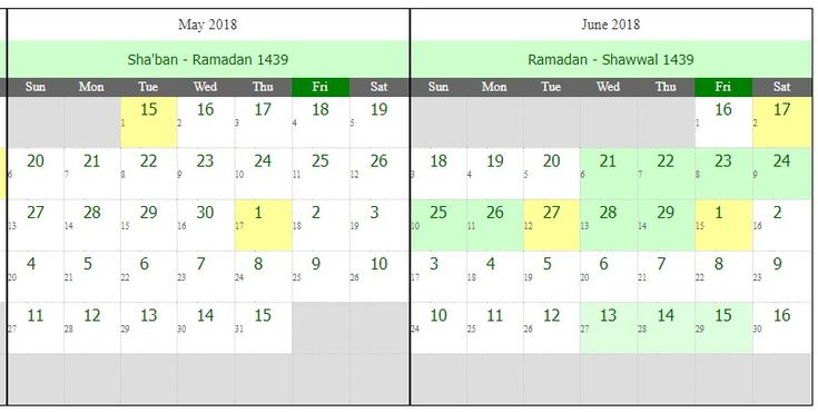 Hello Dear, Welcome to Islamic Hijri Calendar For Ramadan – 1439 Hijri (Western Year 2018) content. In the Muslim worlds, everyone is waiting when is Ramadan 2018 coming. So, they are searching, how to collect Ramadan Islamic Hijri Calendar 1439 Hijri? If you need this Ramadan month Islamic Hijri Calendar, just follow the below content. …