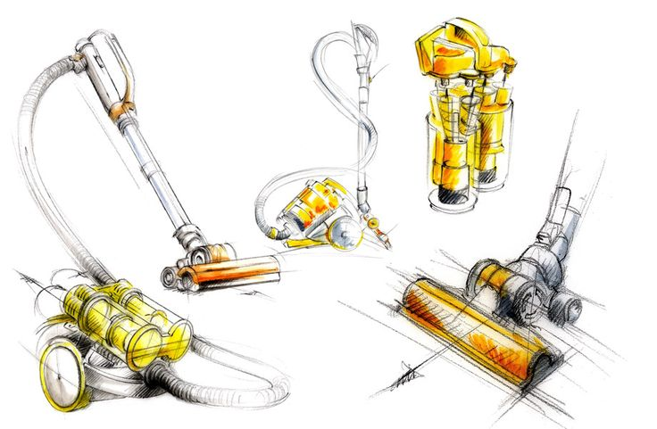 illustration design Dyson futuriste Florence Gendre #illustration #design #Dyson