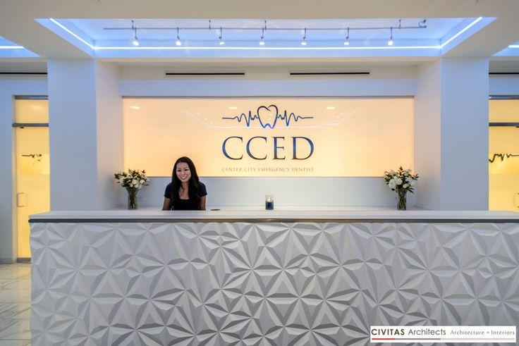 Dental office reception desk