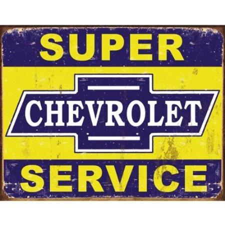 Amazon.com: Desperate Enterprises Super Chevy Service Collectible Metal Sign, Model# 1355 , 17x13: $14.75