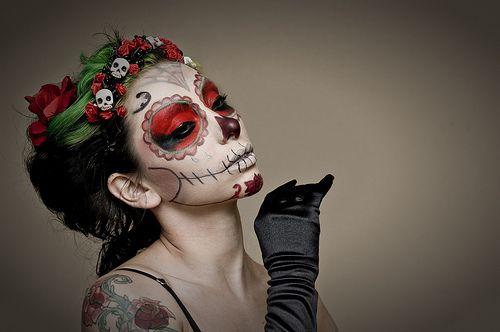 .: Sugarskullmakeup, Faces Paintings, Of The, Sugar Skull Makeup, Mexicans Skull, Catrina, Dead, Day, Hair