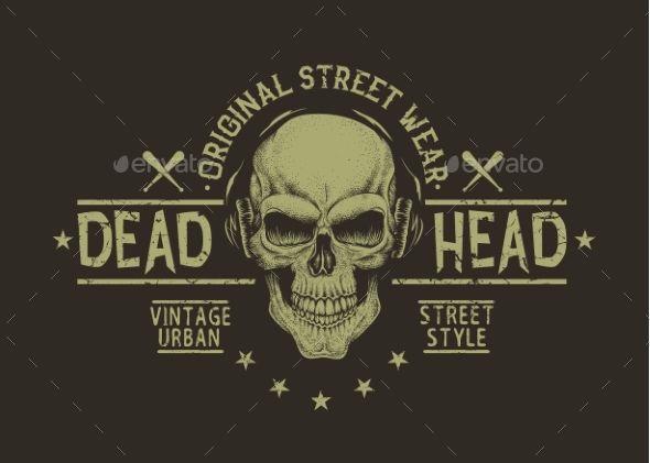 Street Style Label of Skull - Tattoos Vectors