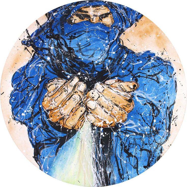 """Bedouin 2 2013""  #artwork #fineart #draw #drawing #artdrawing #artofdrawing #resim #ressam #serdarabay #serdar_abay  #portrait #portraitart #portre #figure #arab #bedouin #desert"