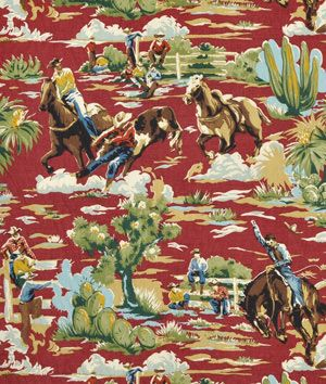 Shop Braemore Ride em Cowboy Chili Fabric at onlinefabricstore.net for $13/ Yard. Best Price & Service.