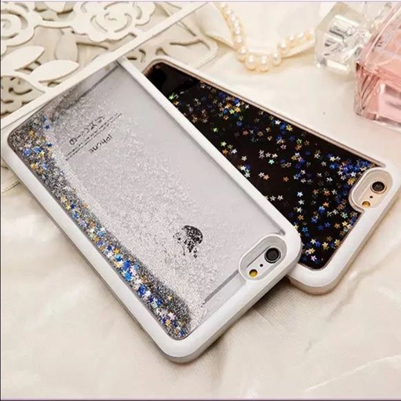 Glitter iPhone 6 case Nwt.  Blue and silver only. $20 each PINK Victoria's Secret Accessories Phone Cases