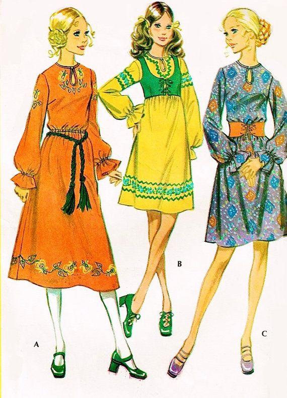 70s Bohemian Dress n Bolero McCalls 2612 by SoVintageOnEtsy, $16.00