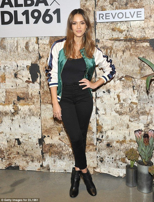 Saleswoman:Of course, Jessica Alba, 35, was also on hand for the stylish shindig celebrating her new denim collection called DL1961