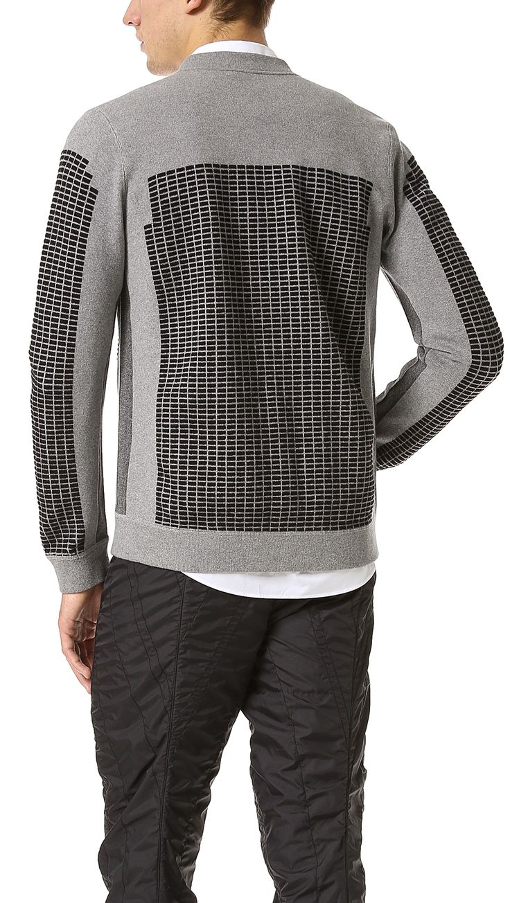 Alexander Wang Cotton Matelasse Bomber Sweatshirt in Gray for Men (Melange Grey) | Lyst