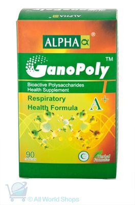 GanoPoly A+ - Respiratory Health Formula - Alpha - 90 capsules   Shop New Zealand NZ$135
