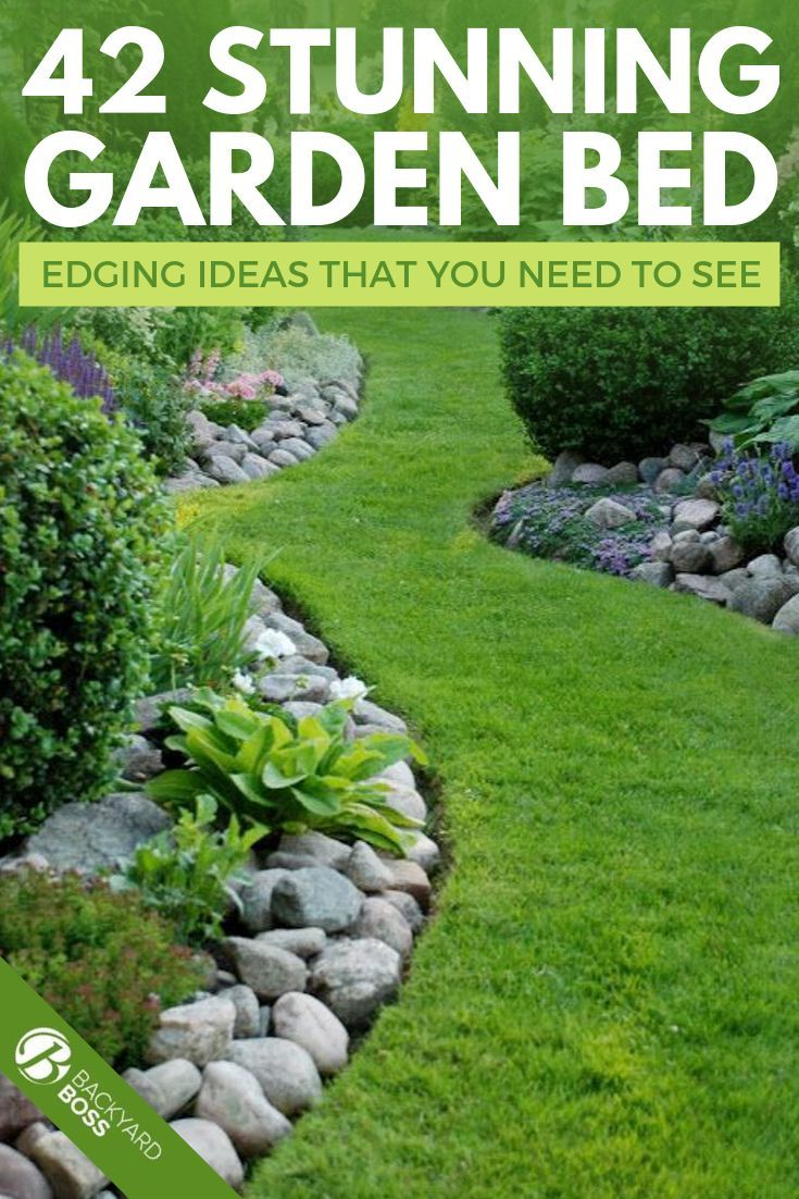 42 Beautiful Garden Bed Edging Ideas With Pictures In 2020 Garden Edging Ideas Cheap Garden Edging Easy Garden Ideas Landscaping