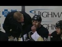 Video: Pascal Dupuis pulls out two of his teeth on the bench - Read More: http://www.penguinpoop.com/2013/video-pascal-dupuis-pulls-out-two-of-his-teeth-on-the-bench/