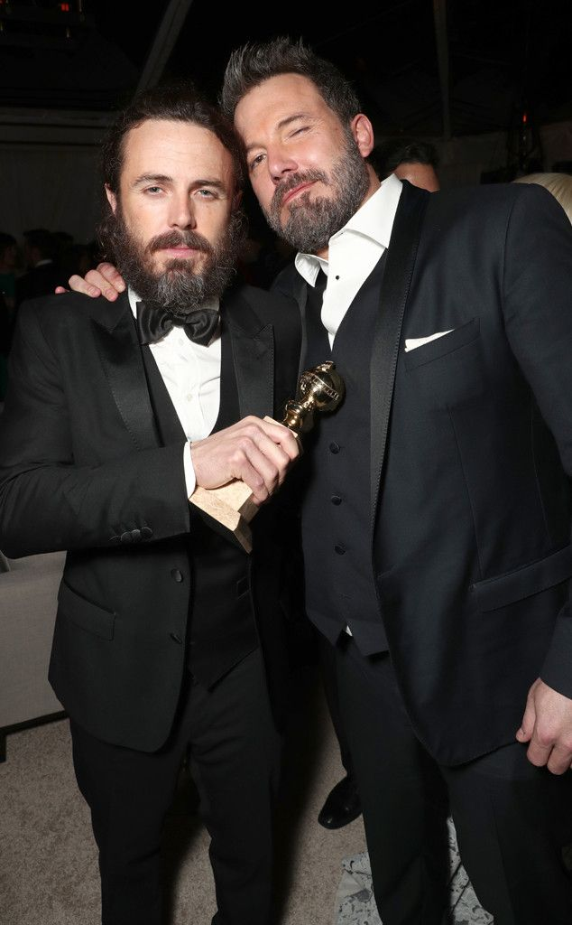 Casey Affleck & Ben Affleck from Golden Globes 2017 Party Pics  The famous brothers had a twinning moment at the Amazon Studios after-party.