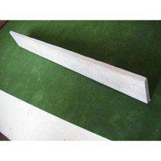 Plaque pour clôture droite en béton, L.192 x H.25 cm x Ep.33 mm