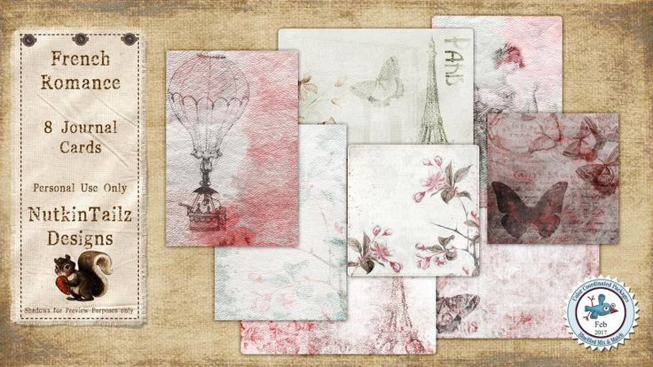 French Romance Journal Cards