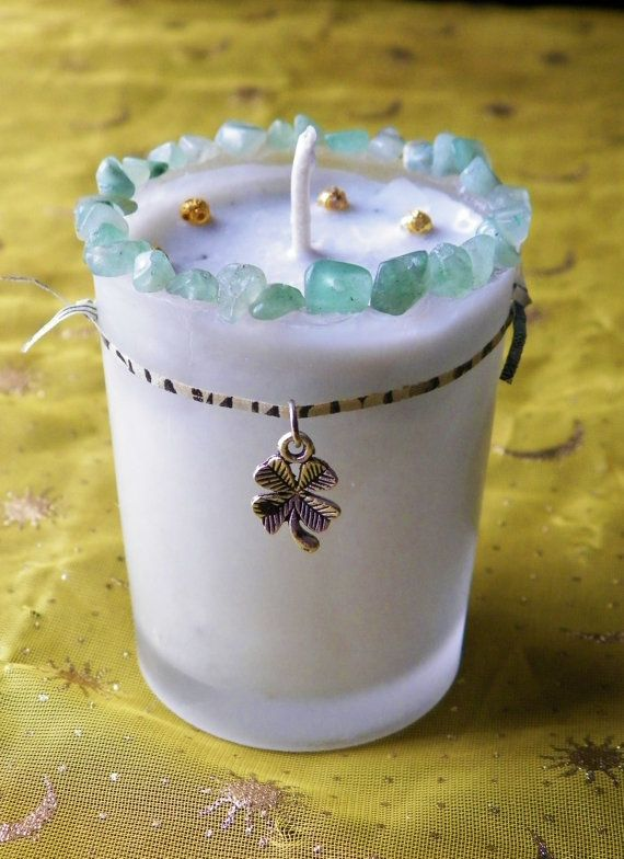 Prosperity Spell Soy Hand Made Candle Lucky by MoonHunterMagick