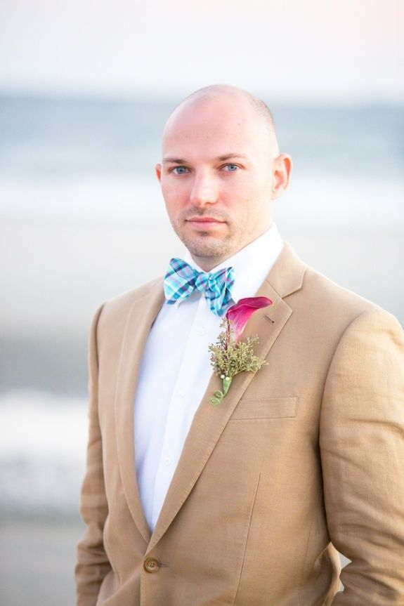 mens beach wedding clothes | Love the bow-tie! | Beach Wedding Attire for the Men