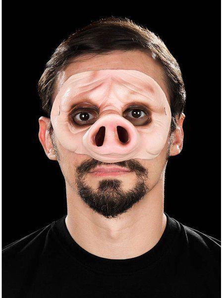 "https://11ter11ter.de/47134737.html Latex Halbmaske ""Piggy"" für Erwachsene #11ter11ter #Maske #Latex #Tiermaske #Tier #Mask #Animal #Kostüm"