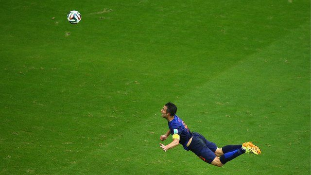 The Beautiful Game - World Cup 2014: Netherlands' Robin Van Persie heads spectacular equaliser