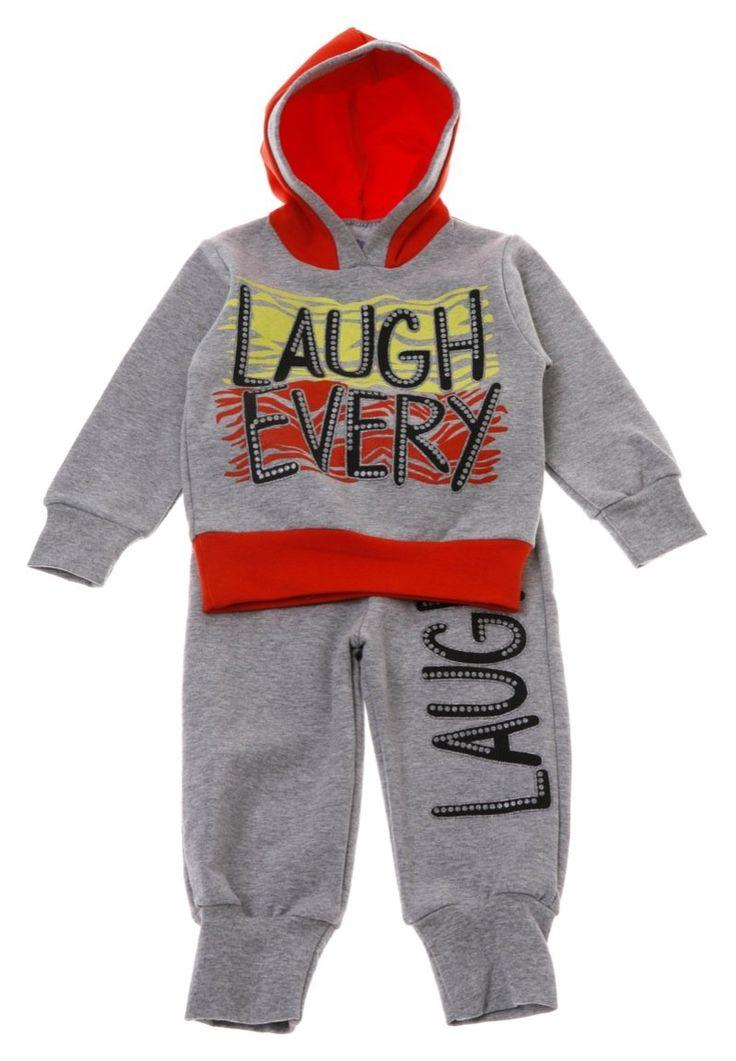 Παιδικά ρούχα AZshop.gr - Best Club σετ φόρμα μπλούζα-παντελόνι «Laugh Every»