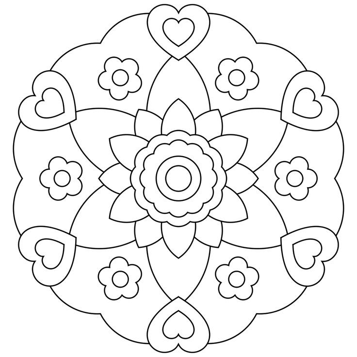 printable coloring mandalas pages - photo#47