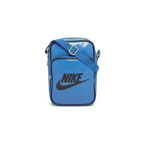 Nike Heritage Small Items Bag (77 BRL) ❤ liked on Polyvore featuring bags, handbags, shoulder bags, nike purse, blue shoulder bag, nike shoulder bag, zip purse and zip shoulder bag