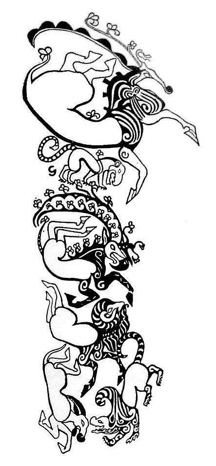 #TattooSymbols #TattooIdeogram scythian tattoo mum…