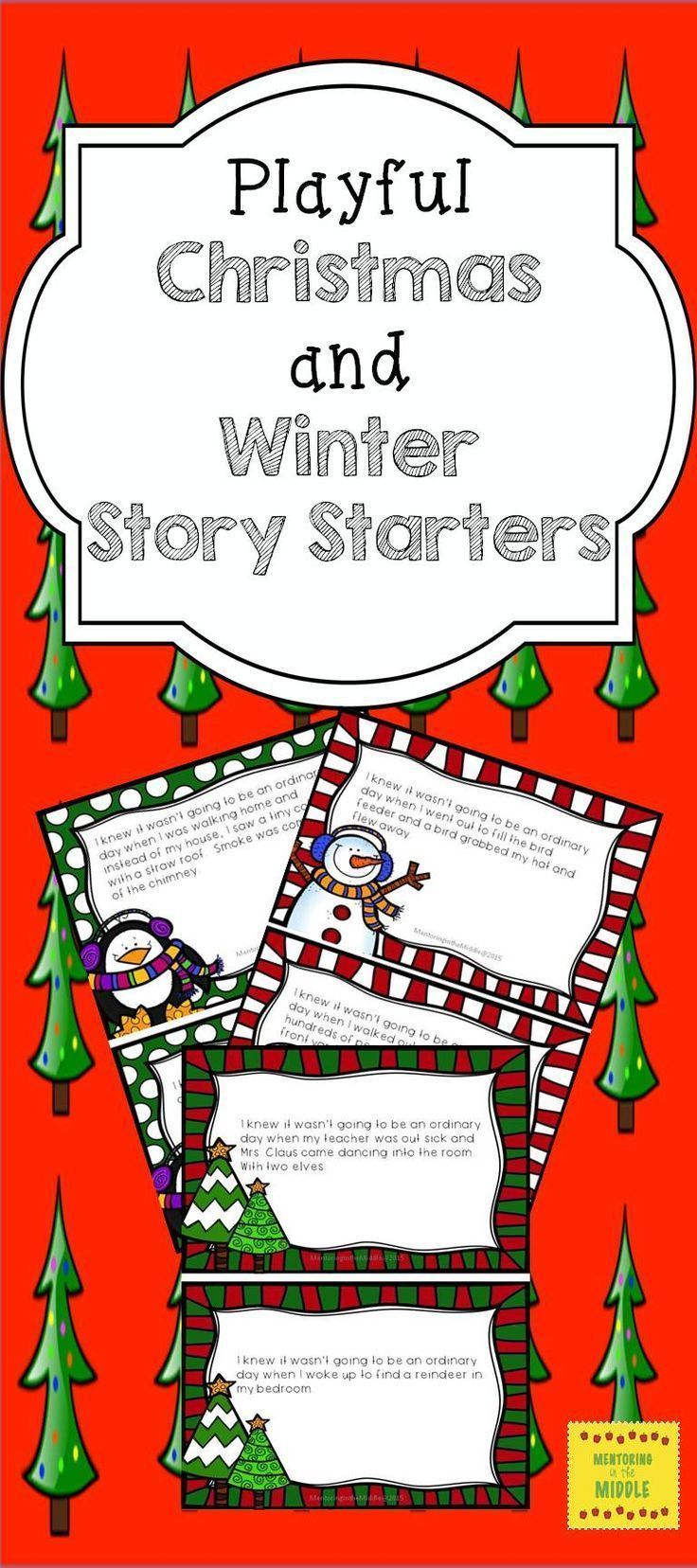 Christmas writing prompts and history starters for middle school pupils