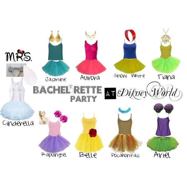 """Bachelorette Party at Disney World"" by awearing-aw on Polyvore"