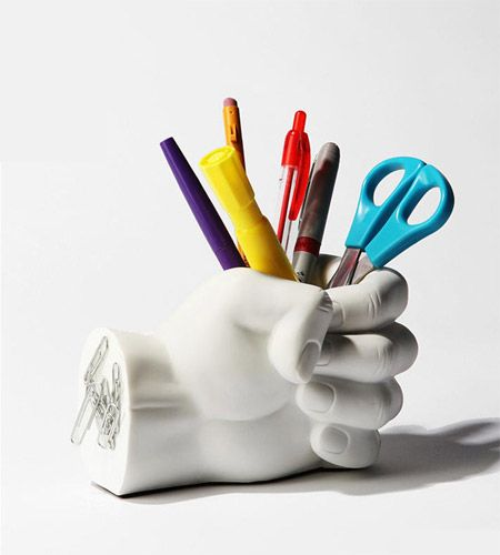 Don't bite the hand that feeds you! ...Or the one that holds your office supplies.: Urban Outfitters, Pen Holders, Office Supplies, Hands, Desk, Pens