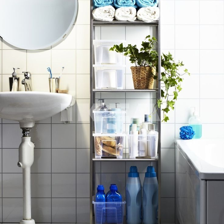 White Tiled Bathroom Laundry : Beautiful Bathroom Ideas In The IKEA Bathroom Catalog | Bathroom Designs, Bath