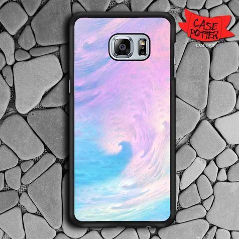 Pastel Cloud Color Samsung Galaxy S7 Edge Black Case