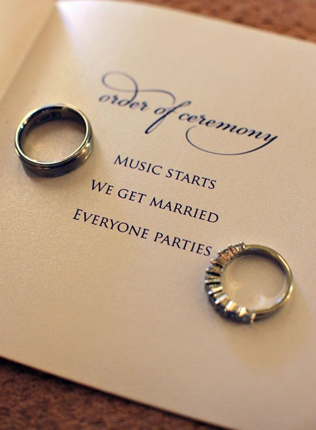 15 Non-Traditional Wedding Programs via Brit + Co.                                                                                                                                                     More