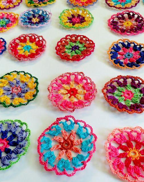 crochet boho tablecloth in progress