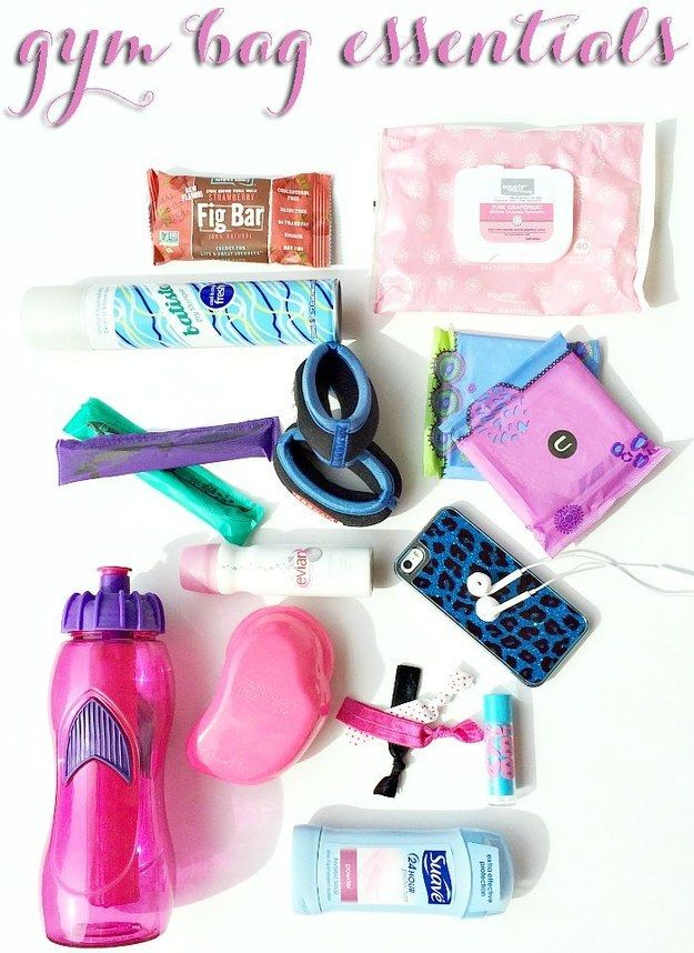 gym bag essentials for all of our benebabes! -don't forget the hoola lol! xx