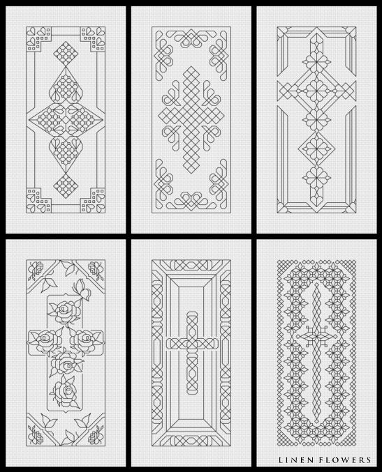 Blackwork Crosses- #180    (c) 2012 Angie Kowalsky/Linen Flowers Designs    *Chart Download For Personal License Only- Not For Resale Or Sharing.     http://linenflowers.com/180lf.htm