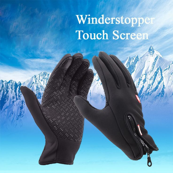 New Winter Outdoor Sport Windstopper Waterproof Gloves Black Riding Glove Motorcycle Gloves Long Finger Cyling Gloves