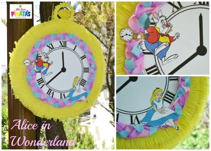 pinata alice in wonderland πινιάτα ρολόι τσέπης Αλίκη στην χώρα των θαυμάτων, Πινιάτες οι αγαπημένες! (updated!) - Anthomeli