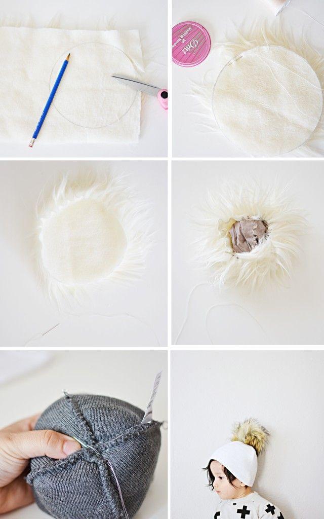 How to make a Faux Fur pom pom