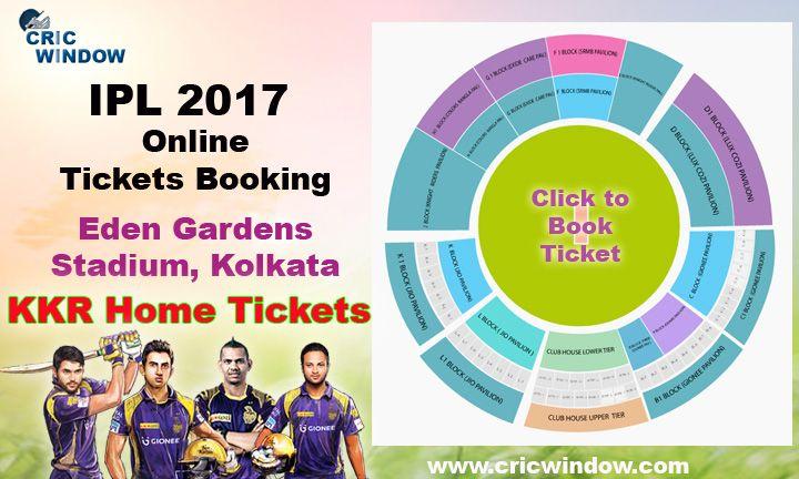 IPL10 Eden Gardens, Kolkata Tickets Booking Available http://www.cricwindow.com/ipl-10/eden-gardens-kolkata-tickets-2017.html
