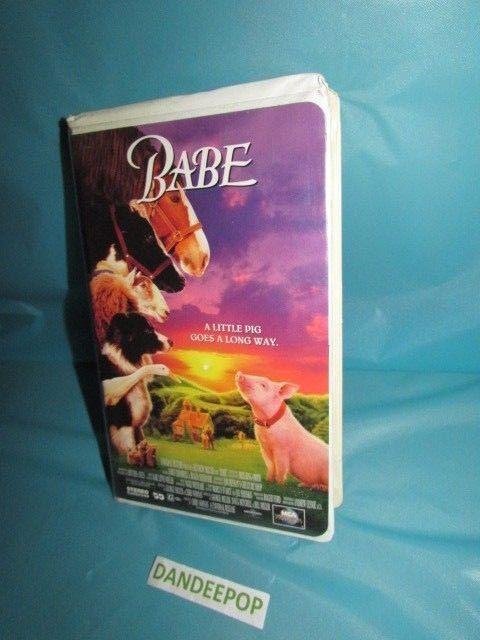 Babe Pig VHS Video Movie original 1995 with clam shell case #Babe #PigMovie #VHS #dandeepop Find me at dandeepop.com