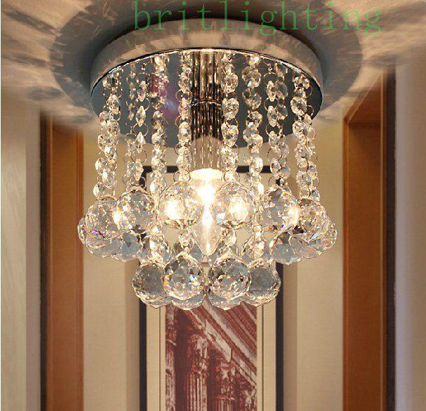 Потолочные светильники для дома светодиодное освещение роскошный современный потолочный светильник кристалл спальня лампа коридор led хрустальные потолочные светильники вход