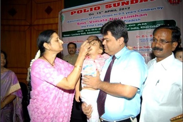 Pulse Polio Doses successfully given to 583,384 children in Hyderabad