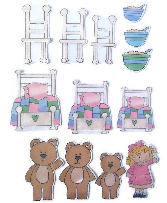 Felt Nursery Rhymes, Goldilocks and the Three Bears, Quiet, Busy Book, Homeschool, Preschool, Teacher Resource, Pretend, Flannel Board Story