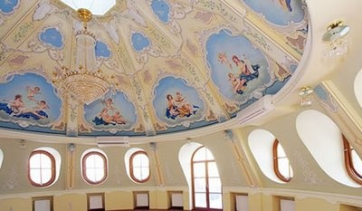 Love the ceiling!Four Stories Estate, Faberge Eggs Shapped, Estate Spreads, Idiosyncrat Chistiy, Prudi Zone, Chistiy Prudi, Moscow Unveiled, Eggs Shapped House, Huge Fabergéegg