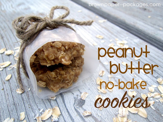 Gifts for school office staff?Paper Packaging, No Bake Cookies, Brown Paper, Brown Sugar, Peanut Butter Cookies, No Baking Cookies, Butter No Bak, No Bak Cookies, Nobake Cookies