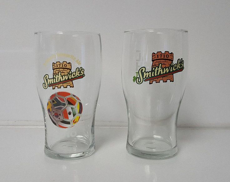 Smithwicks Beer Pint Glasses lot of 2 Irish Pint and 2010 Fifa world cup  | eBay
