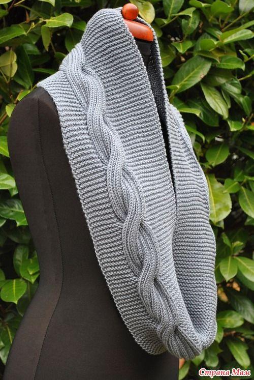 По просьбам любителей изысканных вещей начинаем вязать шарф-снуд Стефания, опрос проводился тут http://www.stranamam.ru/