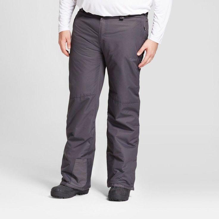 Men's Big & Tall Snow Pants - Zermatt Charcoal (Grey) 4XL
