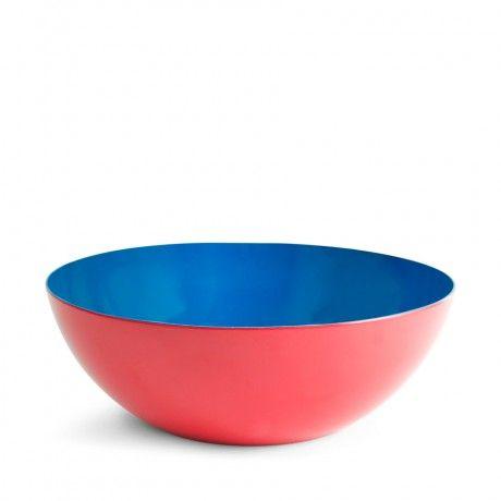 JONATHAN ADLER Red & Blue Côte d'Azur Large Salad Bowl